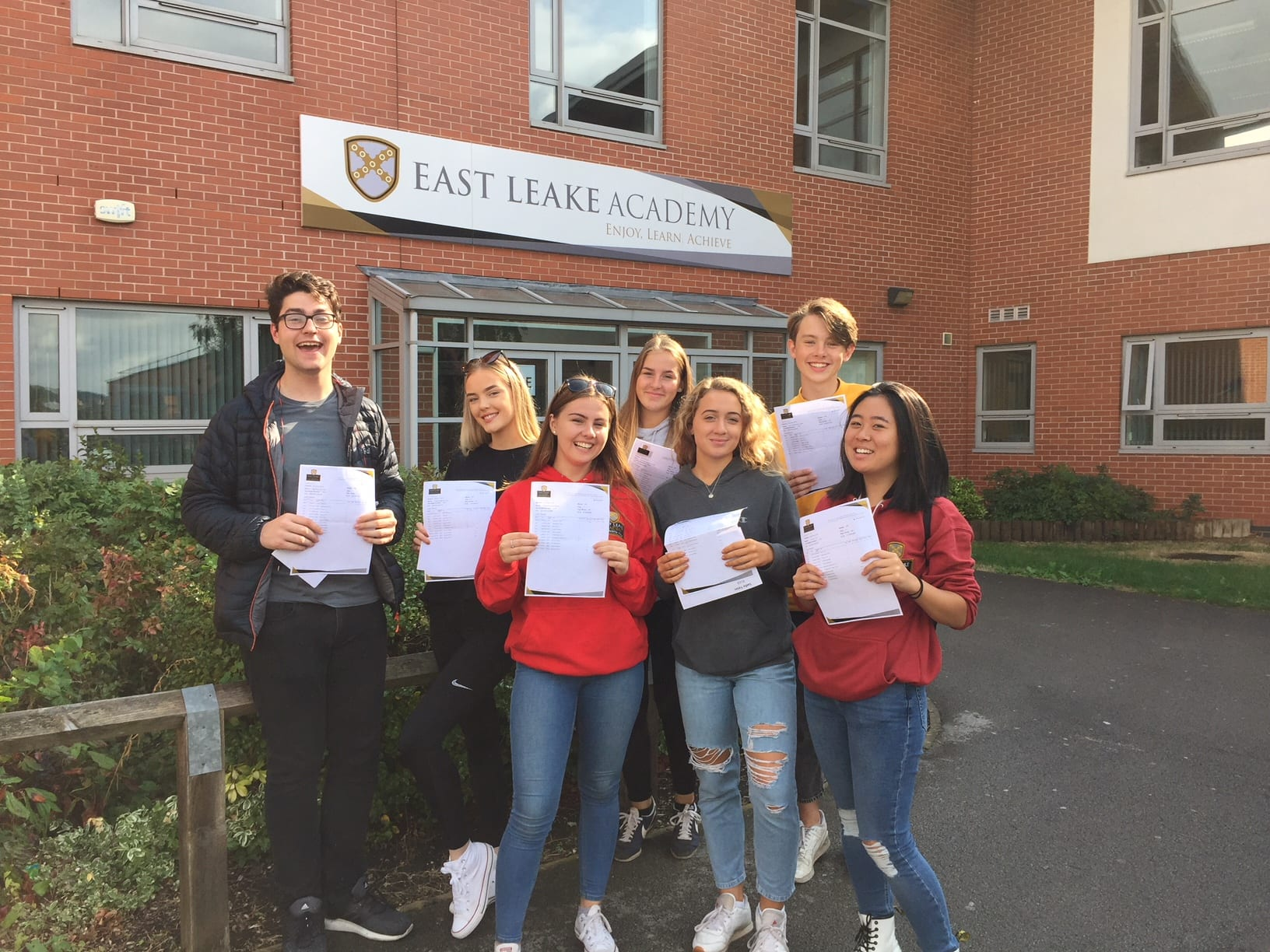 East Leake Academy students celebrate GCSE results