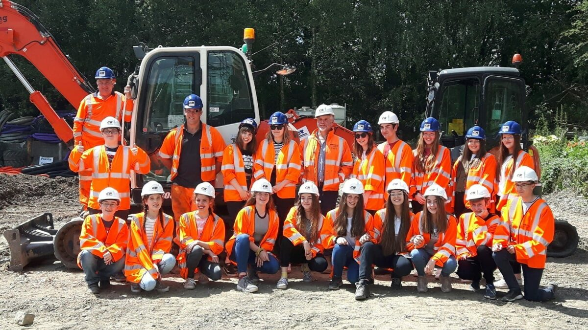 Year 9 students work on engineering project with CR Civils