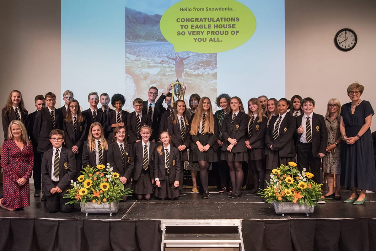 Eagle win the house cup at celebratory Awards Evening