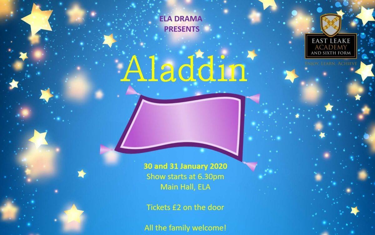 Aladdin – 30 and 31 January 2020