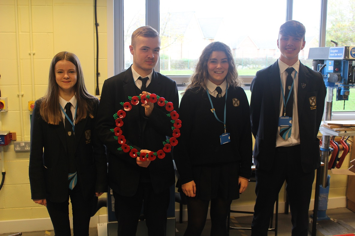 Year 11 students create remembrance wreaths
